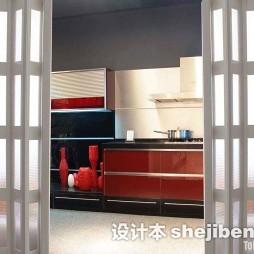 現代復古廚房折疊門圖片