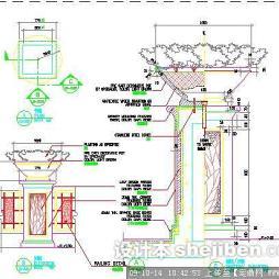 花坛柱子设计平面图
