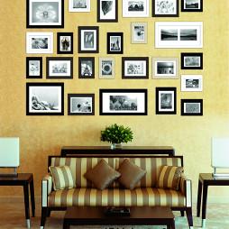 油画-沙发背景墙照片墙装饰效果图