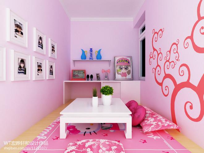 儿童房设计室内手绘墙画图片
