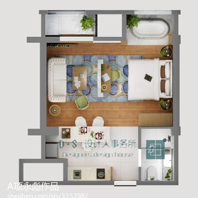 上海 楼盘 平层公寓样板房_1269679