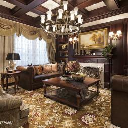 客厅复古家具地毯设计欧式装修图片
