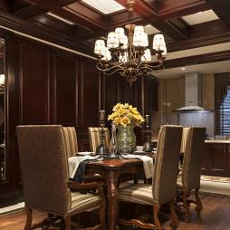 餐厅实木家具地板设计欧式装修图片