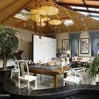 混搭风格办公室生态木吊顶装修效果图