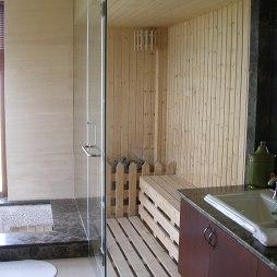 东郊别墅_浴室蒸汽室豪华别墅设计图