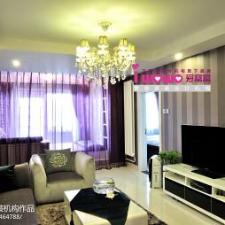 小清新简约公寓客厅窗帘设计