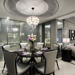 餐厅圆形吊顶欧式装修图片