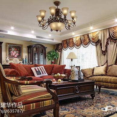 美式家装客厅吊顶效果图