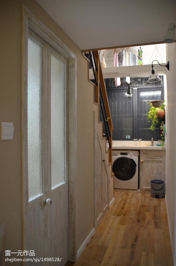 美的洗衣机_小户型阳台洗衣机装修图片 – 设计本装修效果图