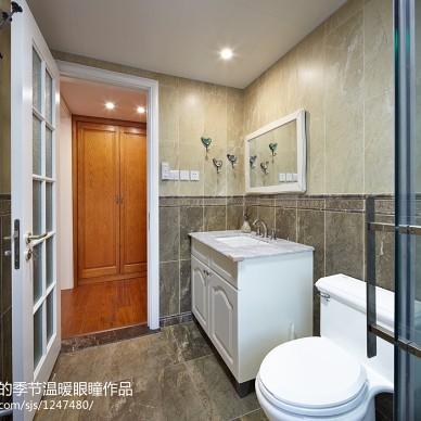别墅美式卫浴洗手台 装修效果图大全2017图片