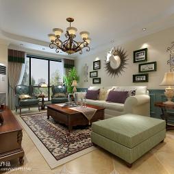 地中海英式小乡村混搭客厅设计