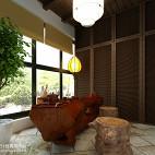 新中式休闲区吊顶装修图片