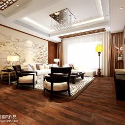 新中式客厅吊顶装修图片
