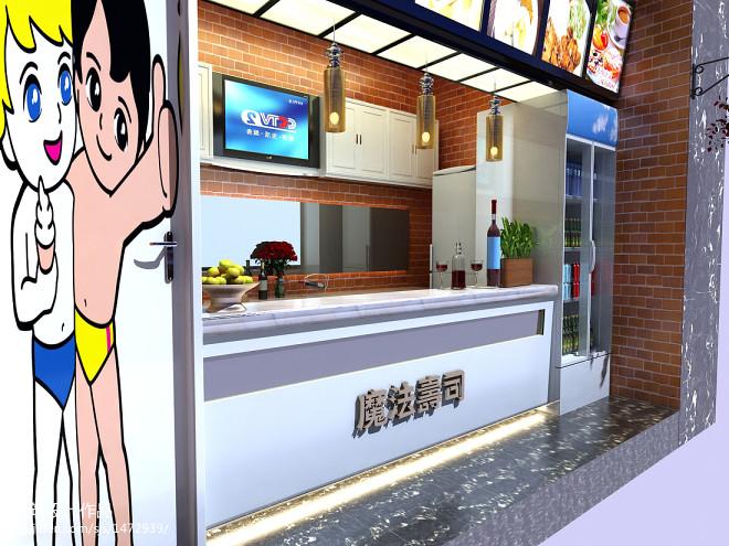 混搭寿司店装修图片
