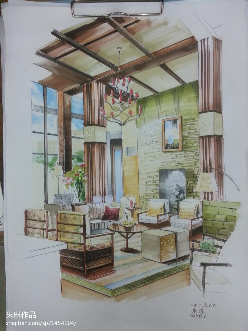 欧式新古典风格家具_欧式室内手绘装修图片欣赏 – 设计本装修效果图