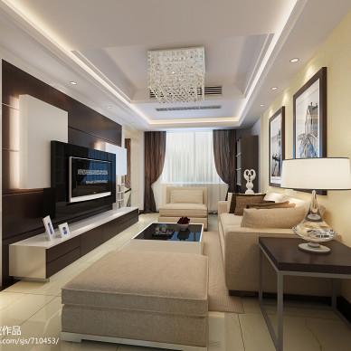 极简主义现代客厅沙发照片墙装修效果图大全2017图