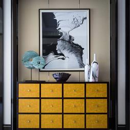 中式風格家居玄關鞋柜裝修圖片