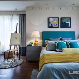 中式风格卧室兼书房设计装修效果图片
