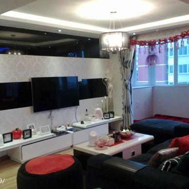 田园风家装室内设计婚房客厅水晶灯家居装修设计