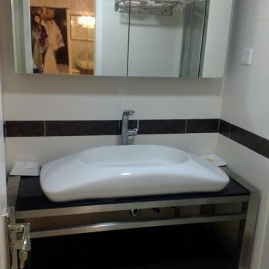 不锈钢浴室柜装修图片