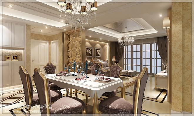 餐厅花纹壁纸家居装修设计