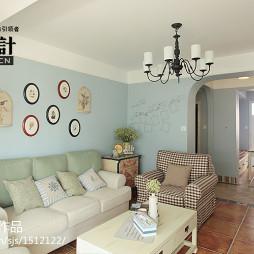 地中海三居室小客厅家装效果图