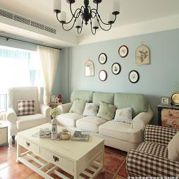 地中海三居室小客厅装修效果图