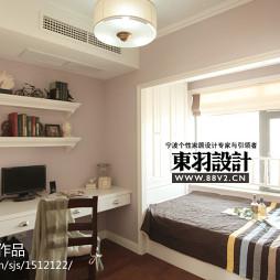 美式卧室书房设计效果图