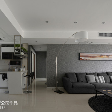 现代简约风会所硅藻泥背景墙装修效果图