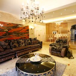 欧式客厅沙发背景墙设计