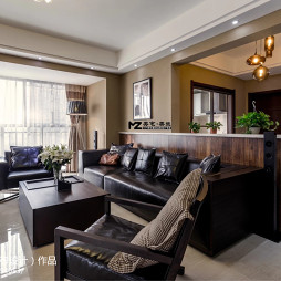 欧式风格室内客厅隔断装修设计