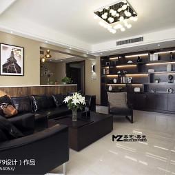 欧式风格室内客厅博古架装修设计