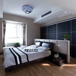 现代风格室内卧室吸顶灯衣橱装修设计