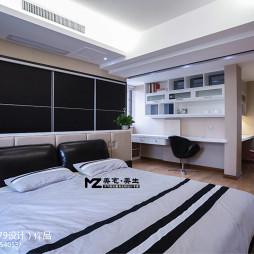 室内设计卧室隔断书架书桌装修设计