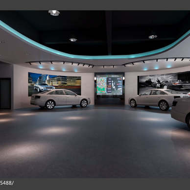 混搭风格汽车展厅设计效果图