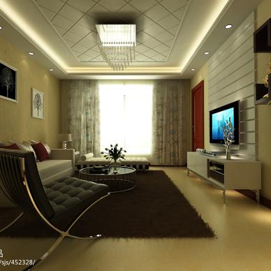 简约家装客厅沙发挂画设计图欣赏