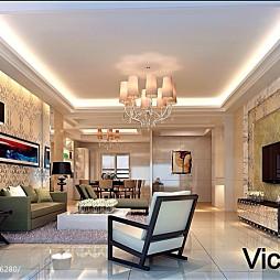 滨河豪园现代风格客厅吊顶设计图片