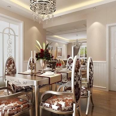 欧式餐厅水晶吊顶造型效果图
