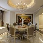 262平米欧式风格室内设计餐厅壁画装饰背景墙效果图