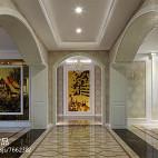 262平米欧式风格室内设计过道长形吊顶图片欣赏