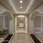 262平米欧式风格室内设计过道装饰墙纸效果图
