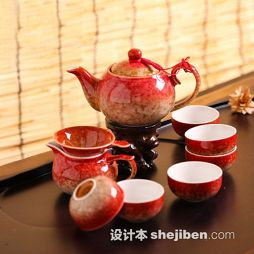 中式陶瓷茶具图片