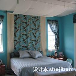 卧室花纹窗帘效果图