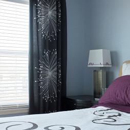 现代卧室装饰窗帘图片