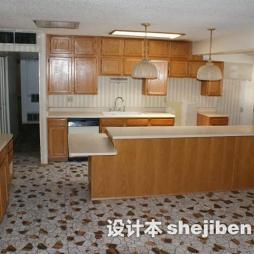 美式厨房拼花地板砖设计效果图