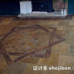 美式客厅地板砖图片大全