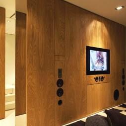 卧室嵌入式电视背景墙图片欣赏