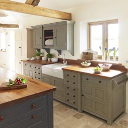 厨房实木家具图片