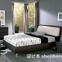 现代卧室实木家具图