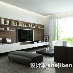 现代客厅实木家具展示图